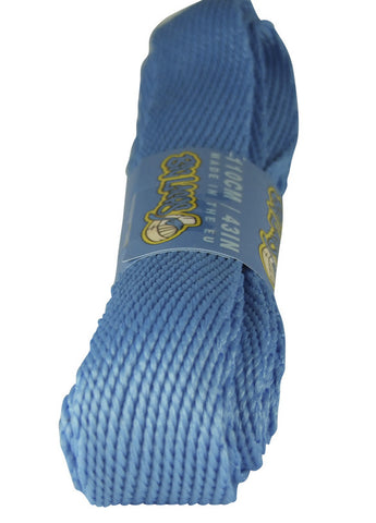 Super Wide Flat Blue Shoe Laces