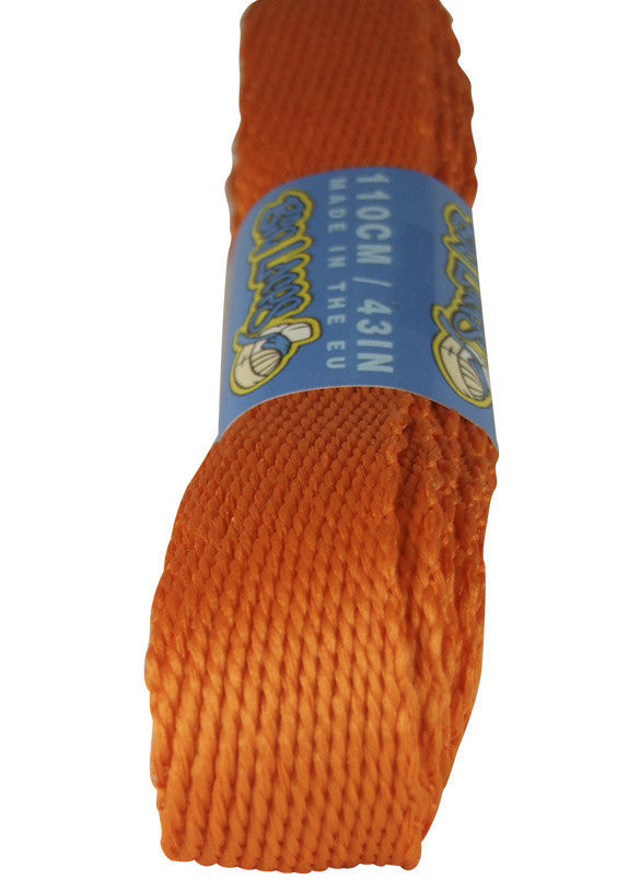 Super Wide Flat Burnt Orange Shoelaces