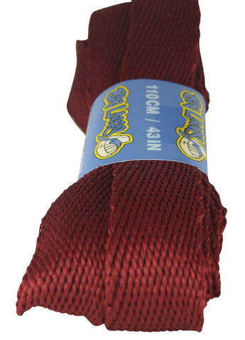 Super Wide Flat Burgundy Shoelaces