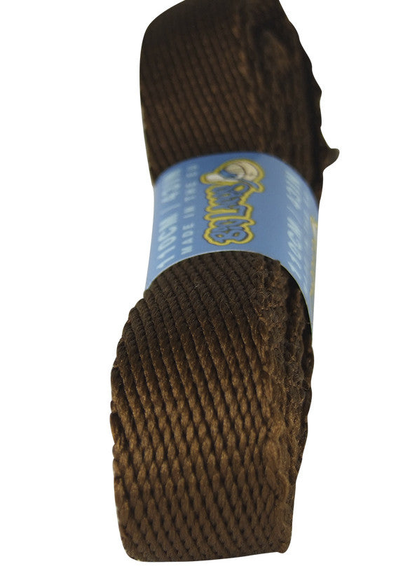 Super Wide Flat Chocolate Brown Shoe Laces