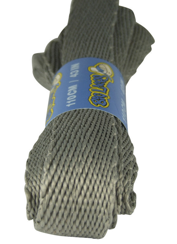 Super Wide Flat Light Grey Shoe Laces