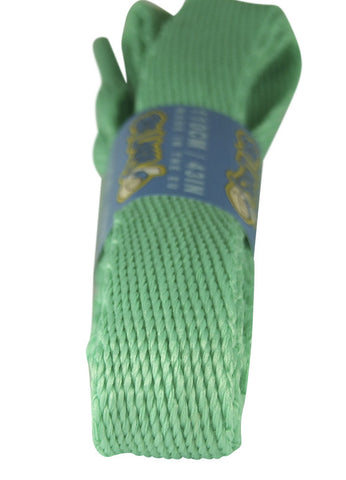 Super Wide Flat Jade Shoelaces - 20mm wide