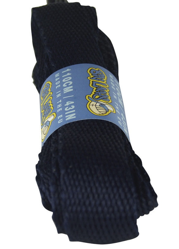 Super Wide Flat Navy Blue Shoe Laces