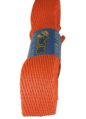 Super Wide Flat Neon Orange Shoe Laces - 20mm wide