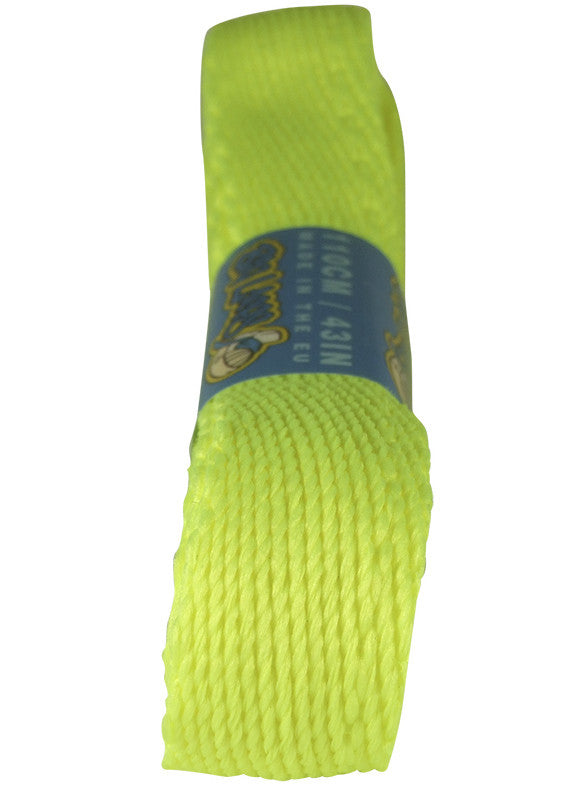 Super Wide Flat Neon Yellow Shoe Laces