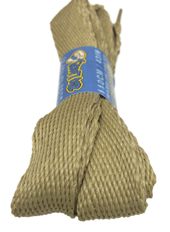 Super Wide Flat Oatmeal Shoelaces - 20mm wide
