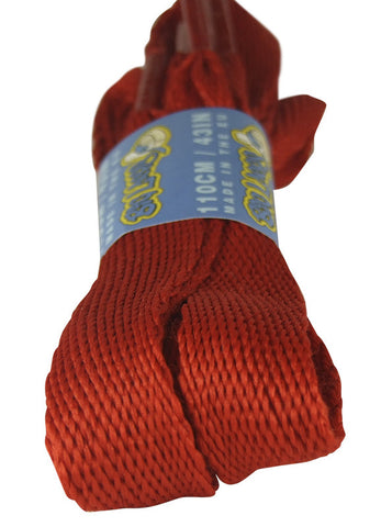 Super Wide Flat Red Shoe Laces - 20mm wide