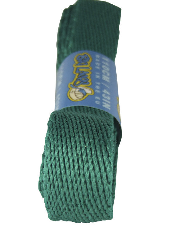 Super Wide Flat Sea Green Shoelaces