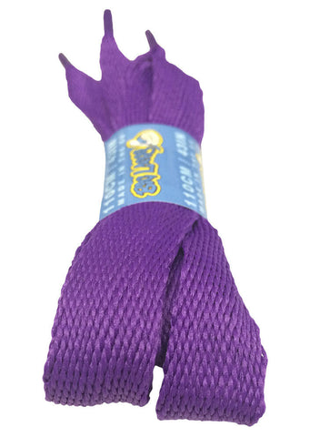 Super Wide Flat Violet Shoe Laces