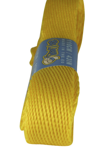 Super Wide Flat Yellow Shoe Laces - 20mm wide
