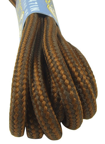 Round Strong Nutmeg and Brown Laces