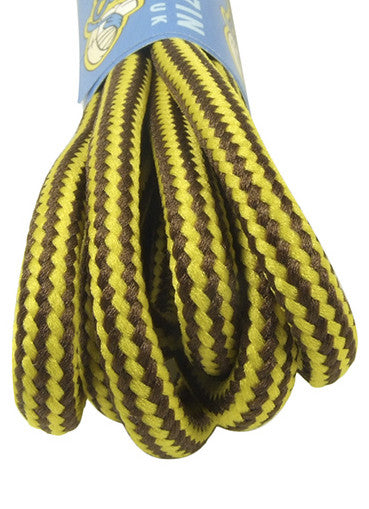 Round Strong Yellow and Brown Laces