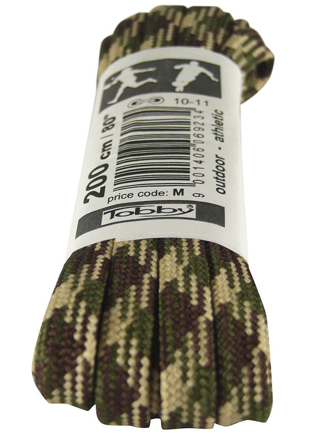 Strong Flat Camo Walking Boot Laces