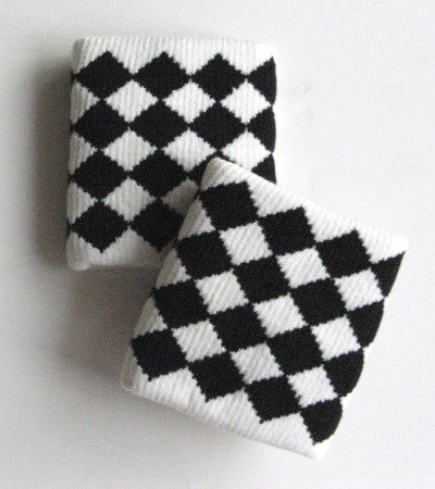 Urban Black and White Diamond Wristbands