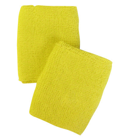 Bright Yellow Sports Quality Wristbands