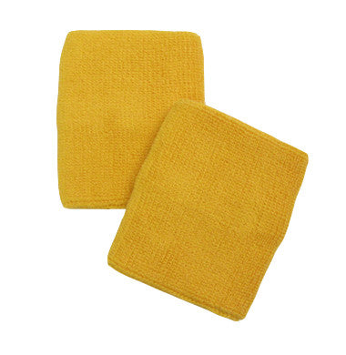 Golden Yellow Sports Quality Wristbands