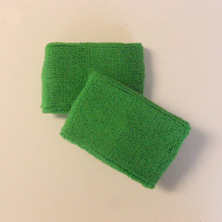 Small Bright Green Sports Quality Wristbands