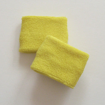 Small Bright Yellow Sports Quality Wristbands