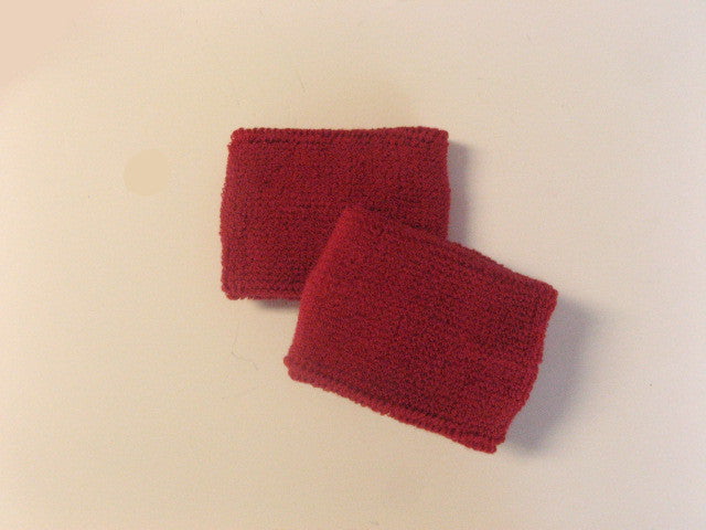 Small Dark Red Sports Quality Wristbands