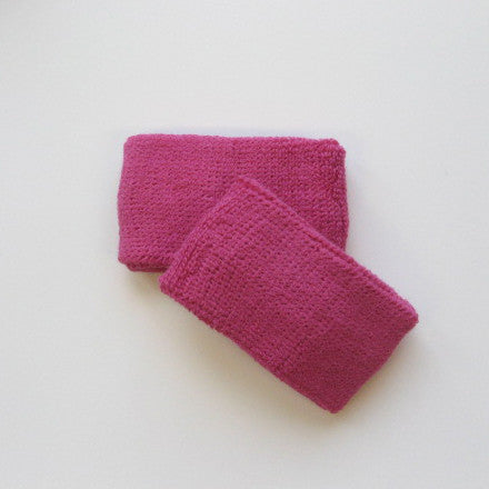 Small Hot Pink Sports Quality Wristbands