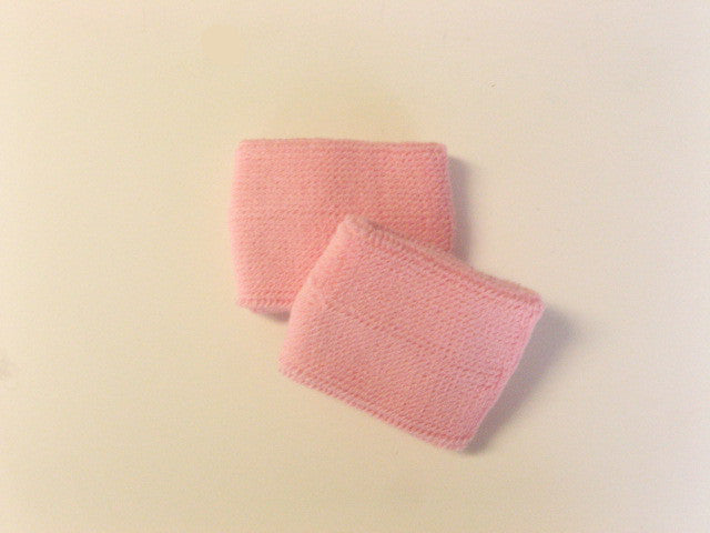 Small Light Pink Sports Quality Wristbands