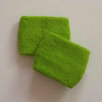 Small Lime Green Sports Quality Wristbands