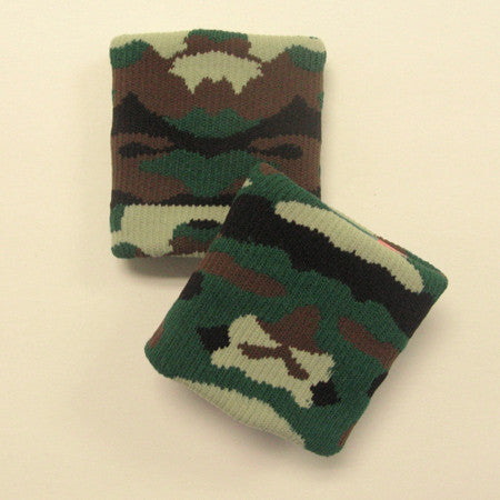 Urban Green and Camo Sports Quality Wristbandss