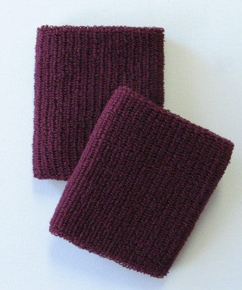Large Maroon Wristbands