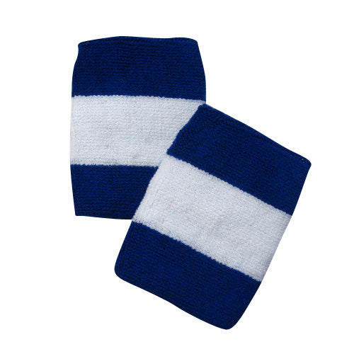 Blue and White Sports Quality Wristbands