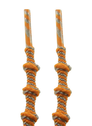 Xtenex Triathlon Orange Silver Shoelaces