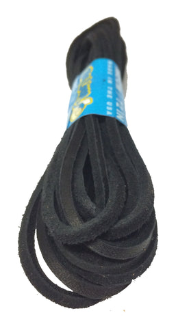 Black Leather Shoelaces