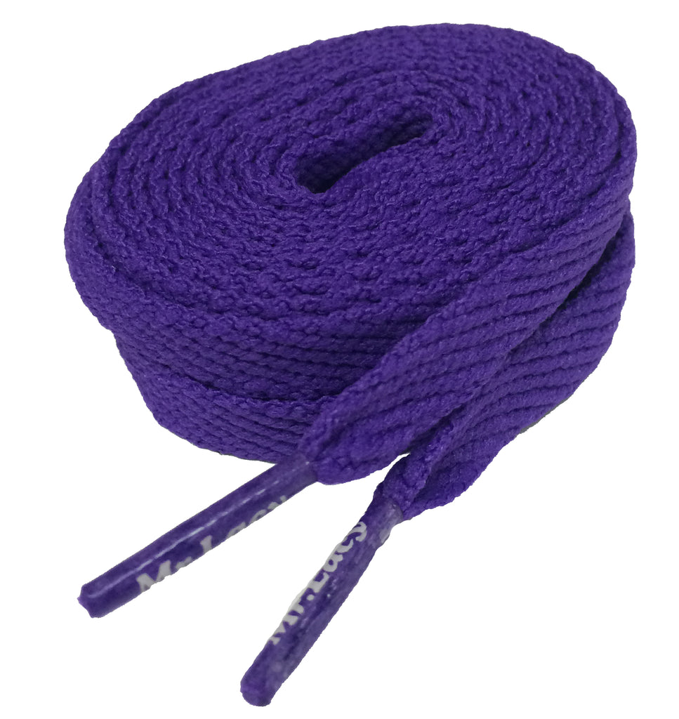 Mr Lacy Flatties Flat Violet shoelaces