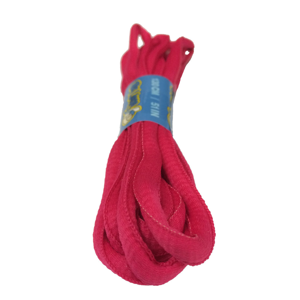 Hot Pink Oval Shoelaces - 8mm wide