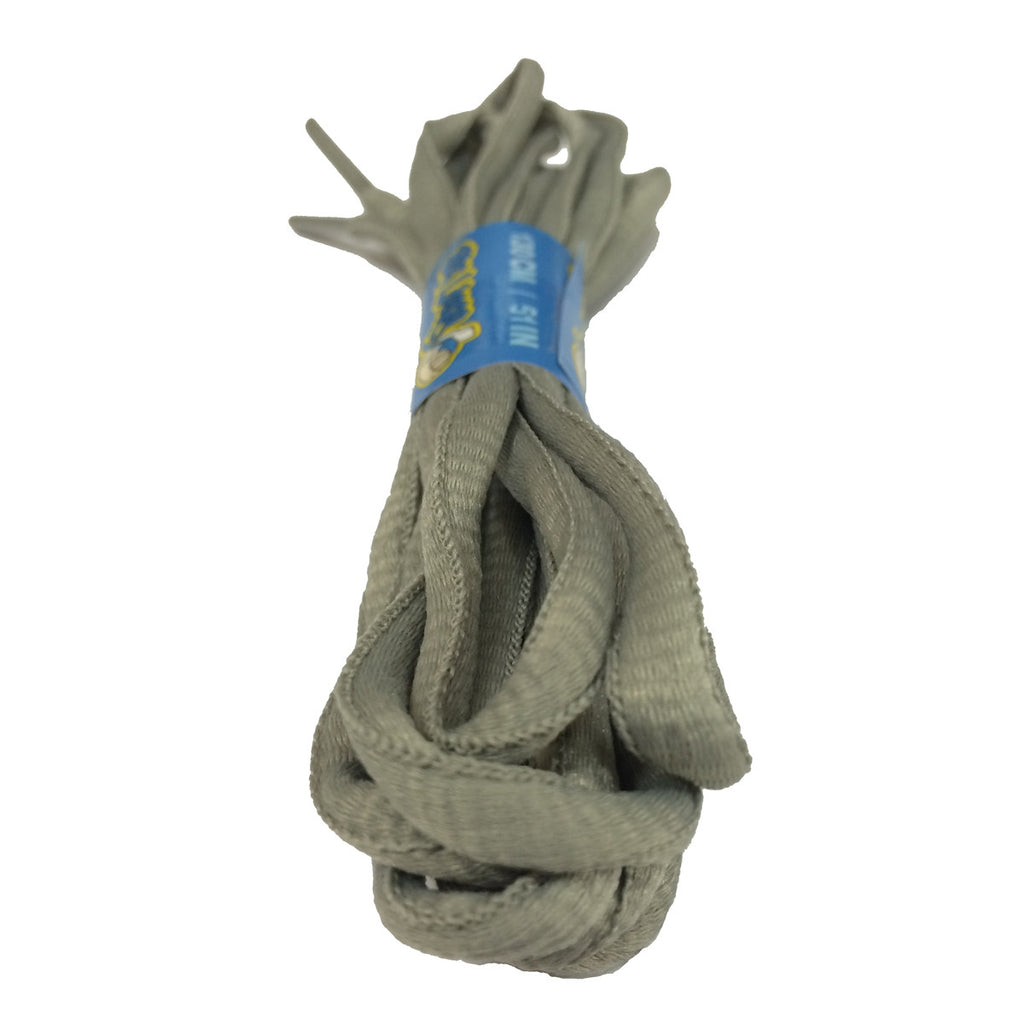 Grey Oval Shoelaces - 8mm wide