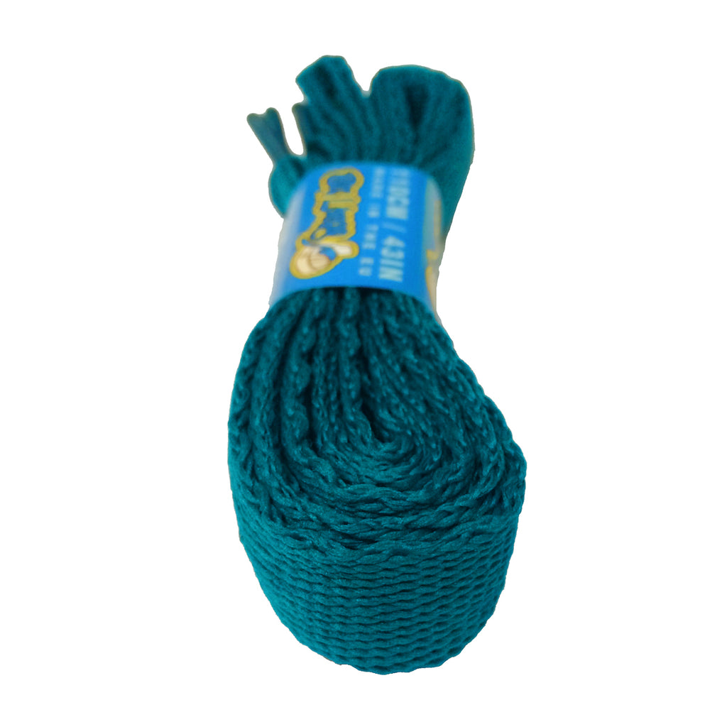 Super Wide Flat Teal Shoelaces - 20mm wide