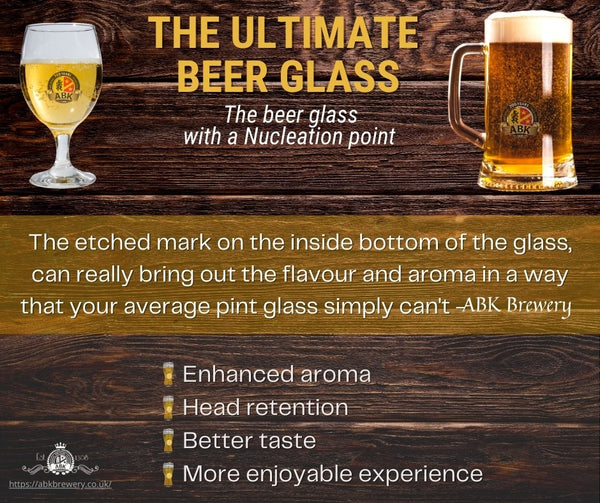 Nucleation beer glass benefits