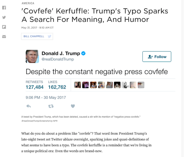 Covfefe in the House.
