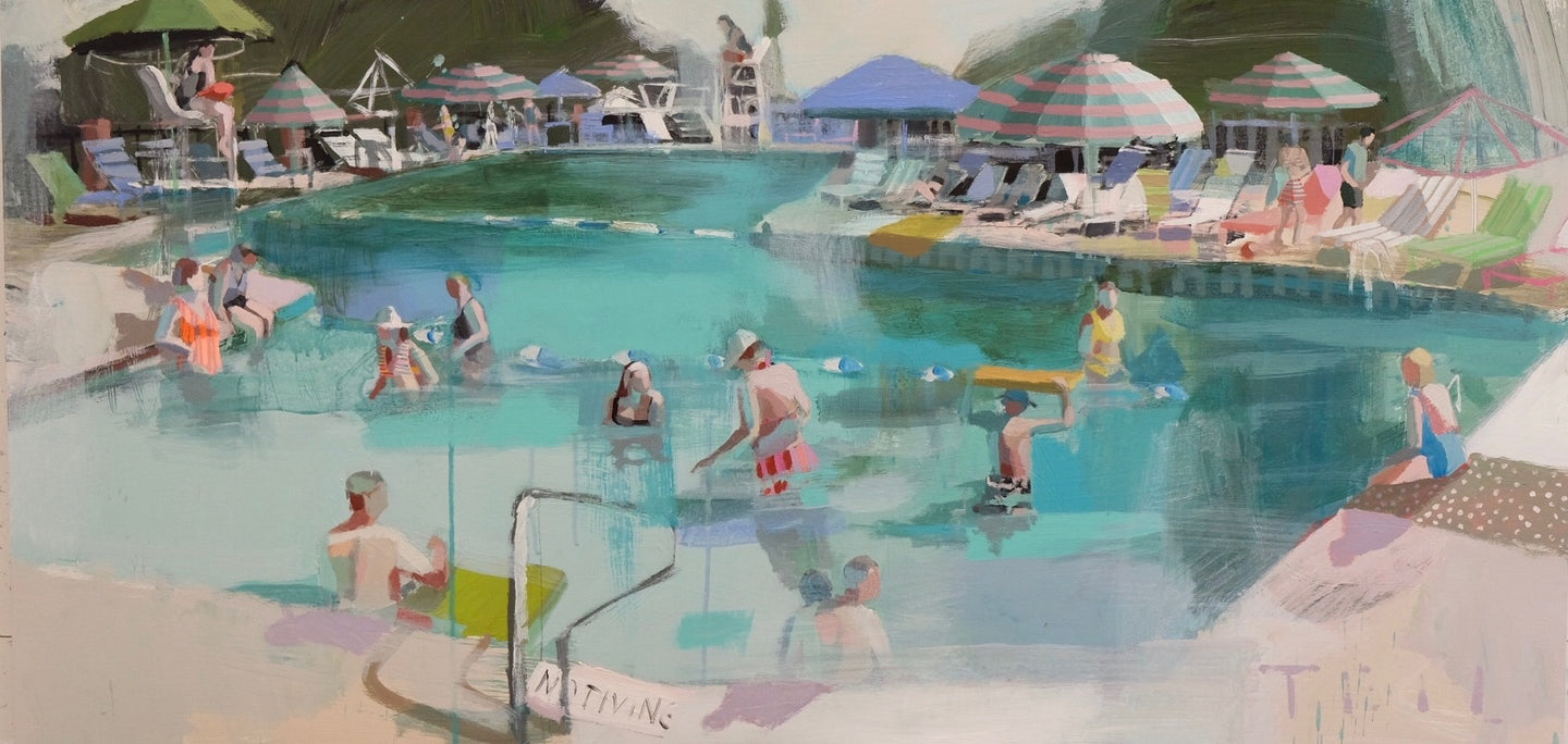 Pool Chatter, 24x48