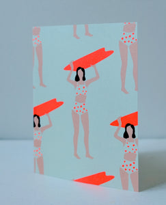 Neon Swim Notecard Set