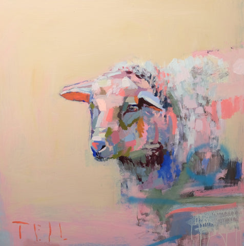 Sherbet Sheep, 36x36