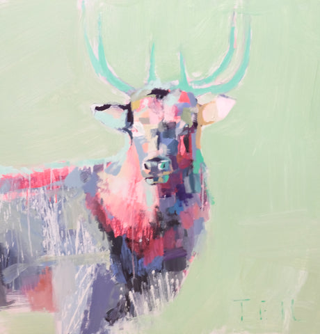 Winter Buck, 36x36