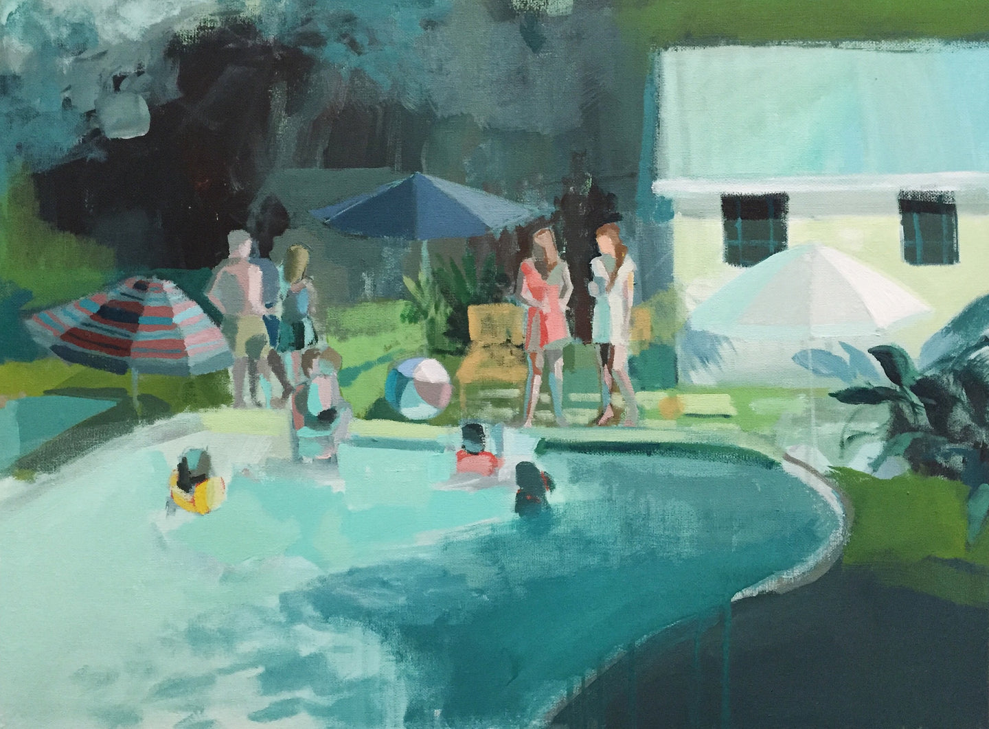 Old Village Pool, 18x24