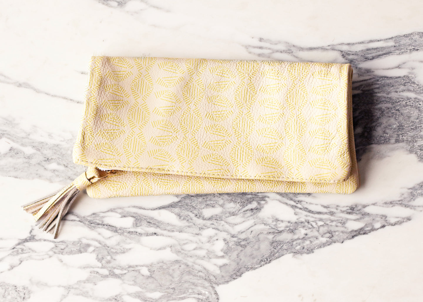 Beach Umbrella Leather Clutch