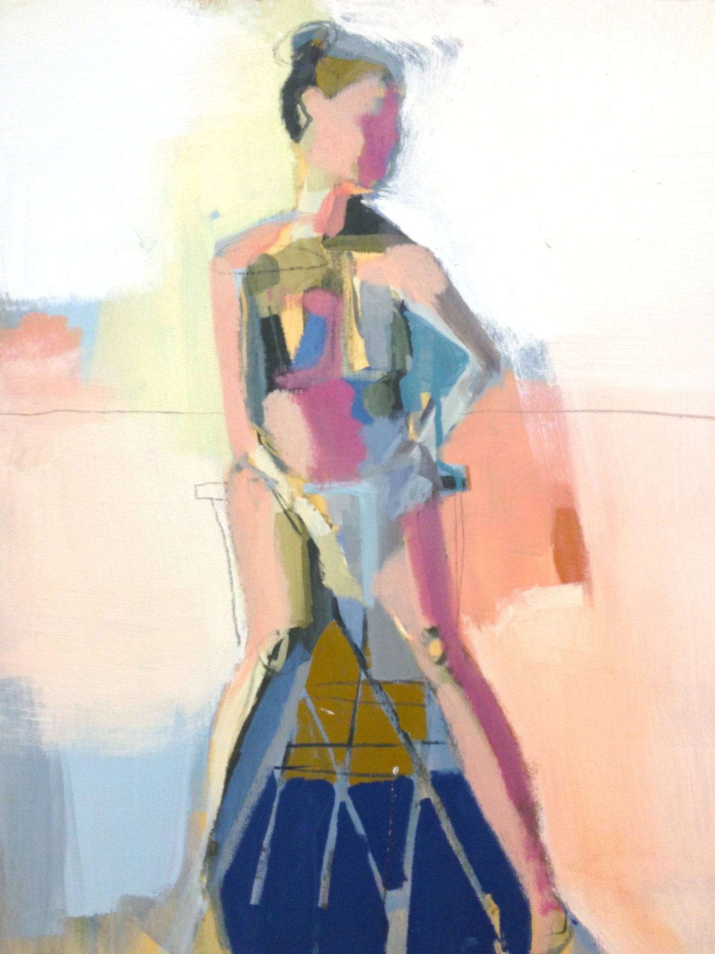 Figure in Mauve and Peach 18x24