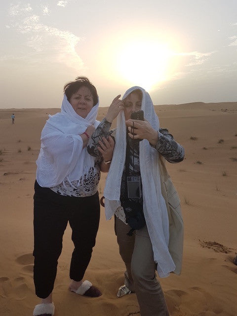 Nuknuuk slippers in the Dubai desert