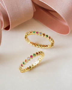Lilly Rainbow Ring