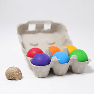 Grimm's Bright Rainbow Balls in Egg Box