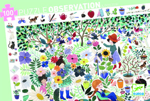 Djeco 100 piece Observation puzzle - 1000 Flowers