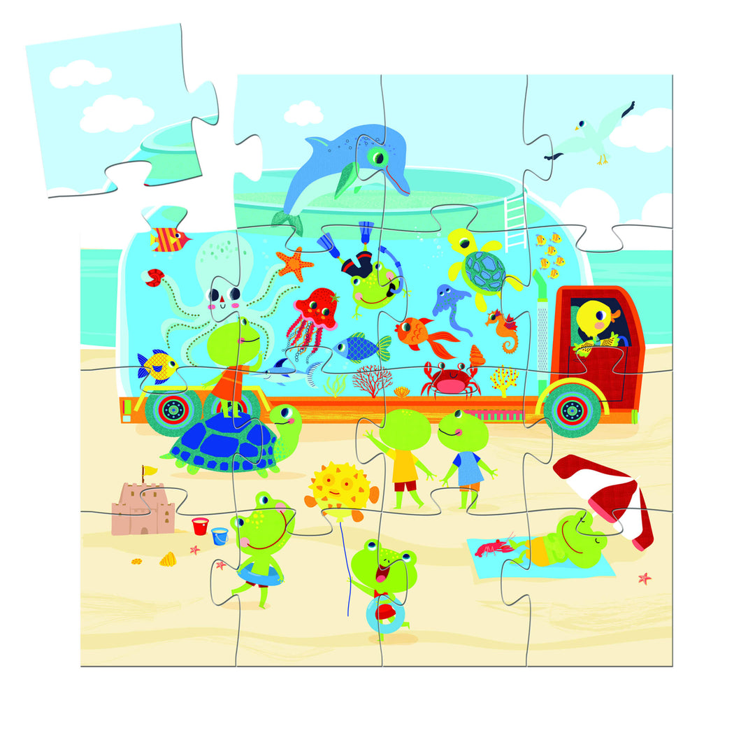 Djeco -16 Pieces toddler jigsaw  - The Aquarium