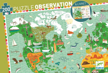 Load image into Gallery viewer, Djeco 200 Piece Observation Puzzle - Around The World